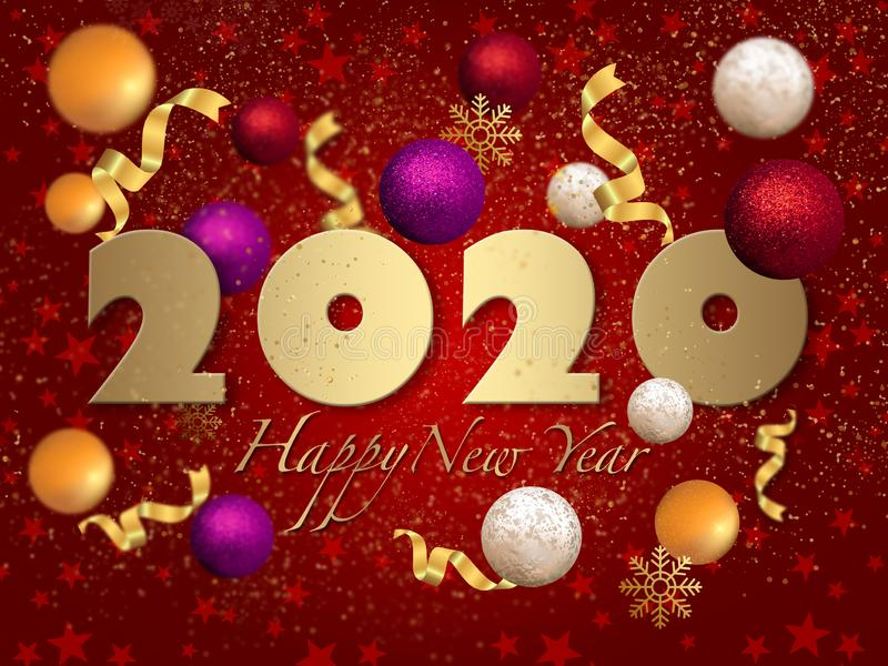 2020 My Happy New Year. My 2020 Happy New Year Illustration work, old, illustration, design, christmas royalty free stock images