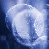 Abstract underwater composition with jelly balls, bubbles and light Stock Photography